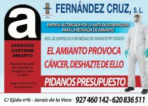 Fernandez Cruz S.L - El Amianto