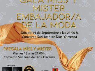 Olivenza organiza el certamen de belleza Miss y Míster Embajadores de la Moda en Extremadura